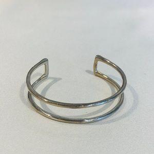 Pointe Stack Cuff (Silver)